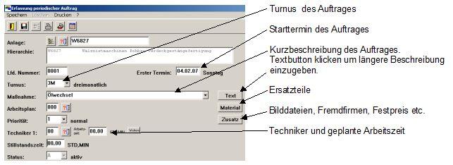 EXP Instandhaltung Auftragserfassung